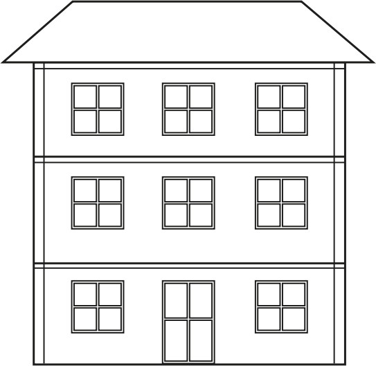 Hosue clipart three story Dollhouse Doll Clipart collection clipart