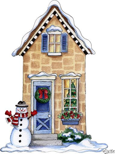 Cottage clipart christmas cottage Images ~&~ and Printable more