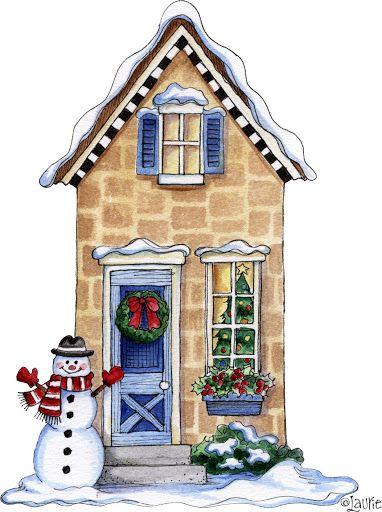 Cottage clipart christmas cottage Images Christmas: ~&~ more Pinterest