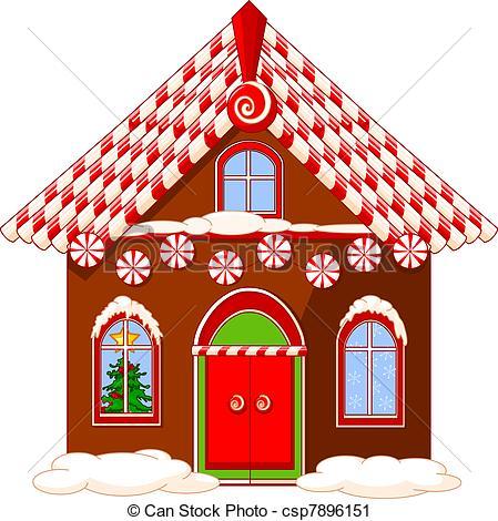 Gingerbread clipart santa claus house Csp7896151 Christmas house Clip Art