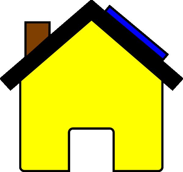 Hosue clipart yellow #14