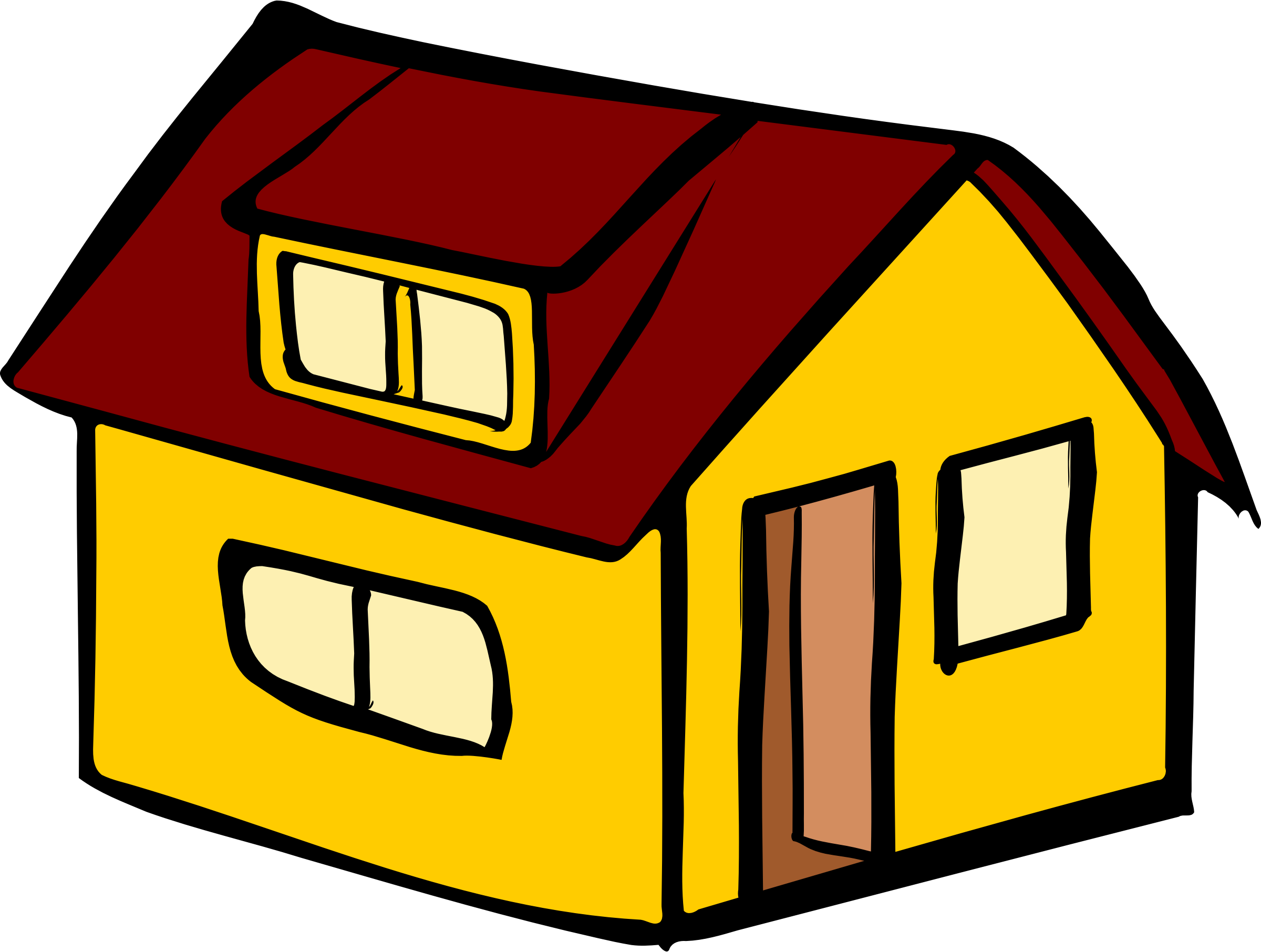 Hosue clipart yellow Yellow detached detached house Yellow