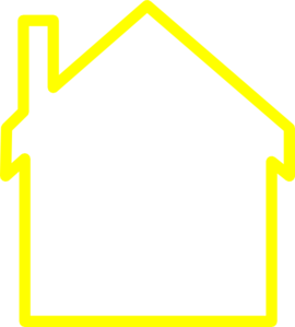 Hosue clipart yellow At  Outline Art Art
