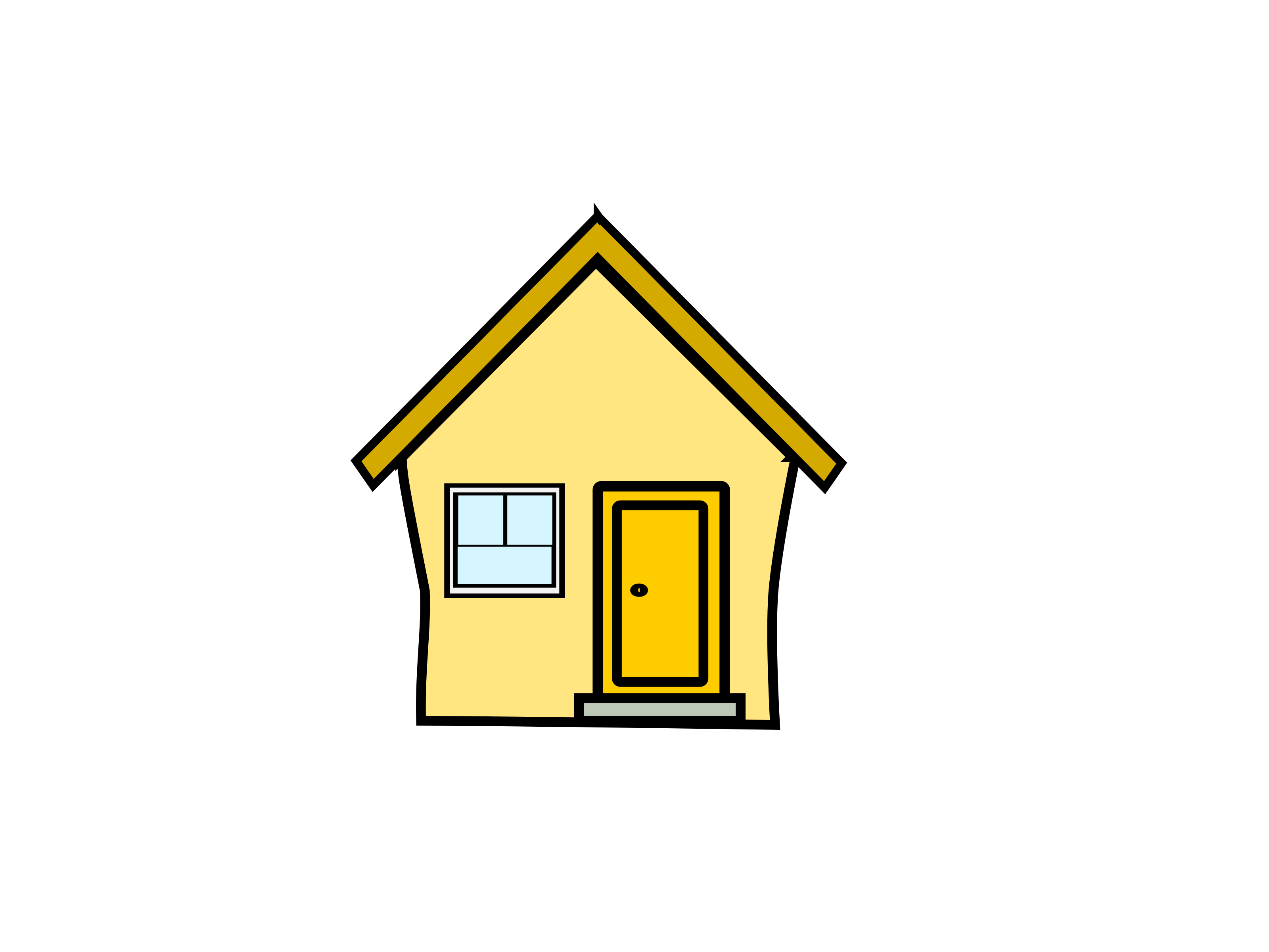 Hosue clipart yellow (Yellow Clipart House) gelbes haus