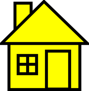 Hosue clipart yellow #3