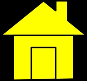 Hosue clipart yellow #2