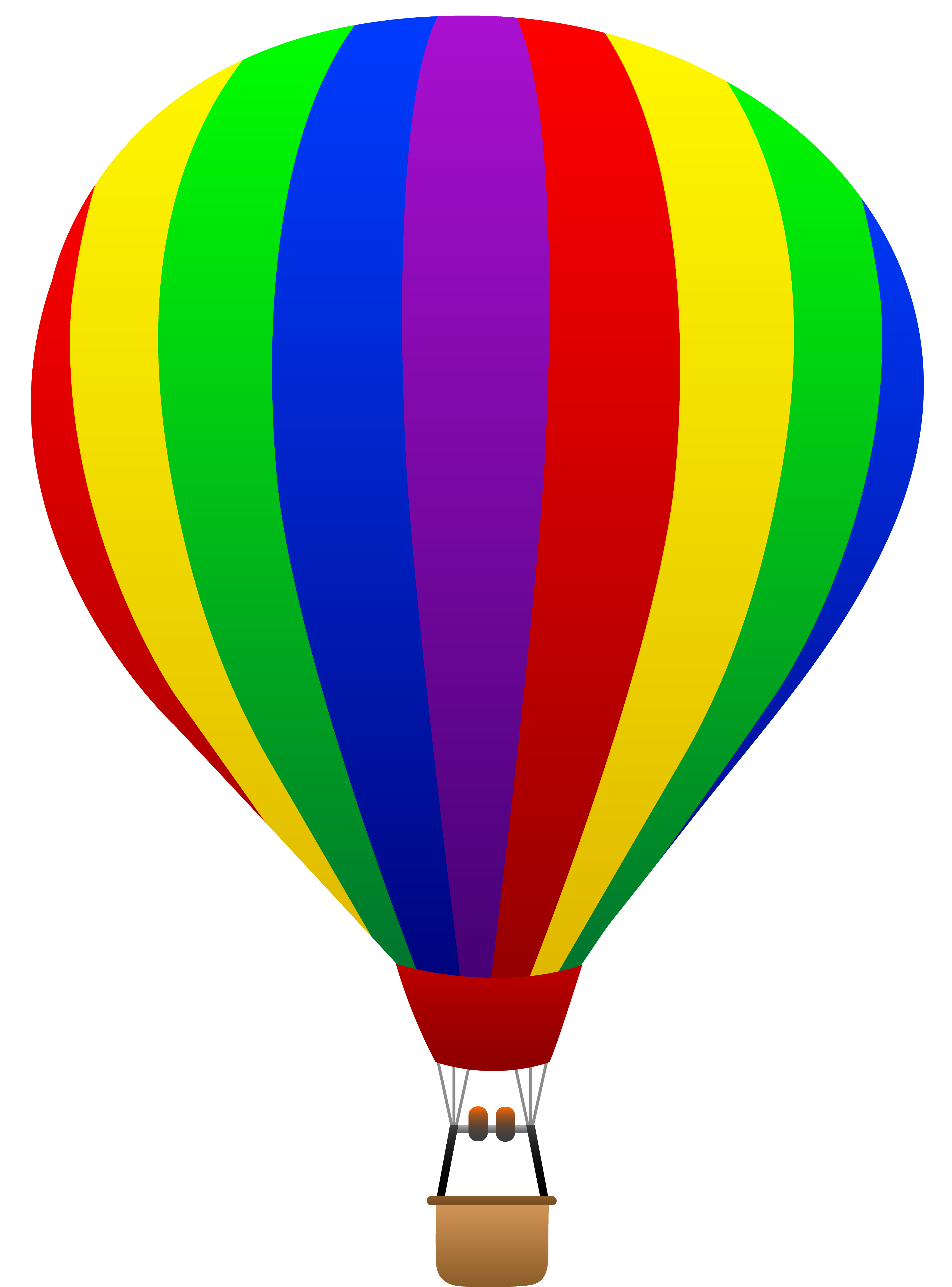 Balloon clipart hotair Art air striped fun rainbow