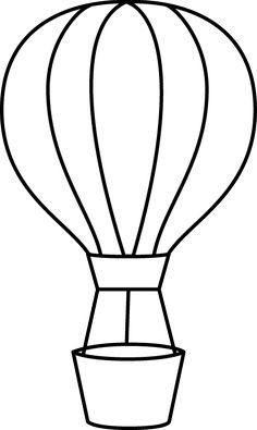 Black & White clipart hot air balloon Balloon Basket Air Clip udara