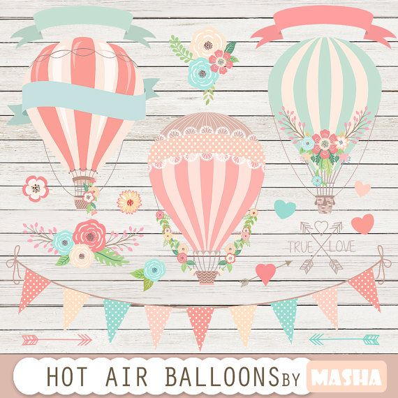 Hot Air Balloon clipart banner #5