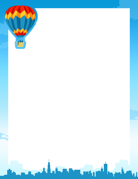 Hot Air Balloon clipart banner #6