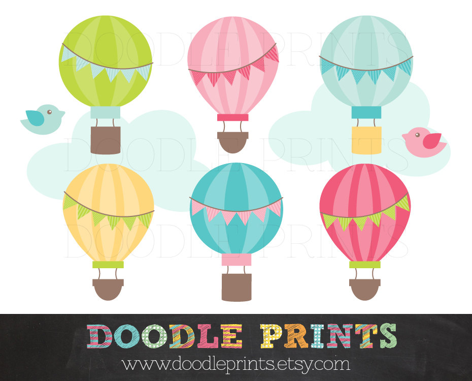 Hot Air Balloon clipart banner #7
