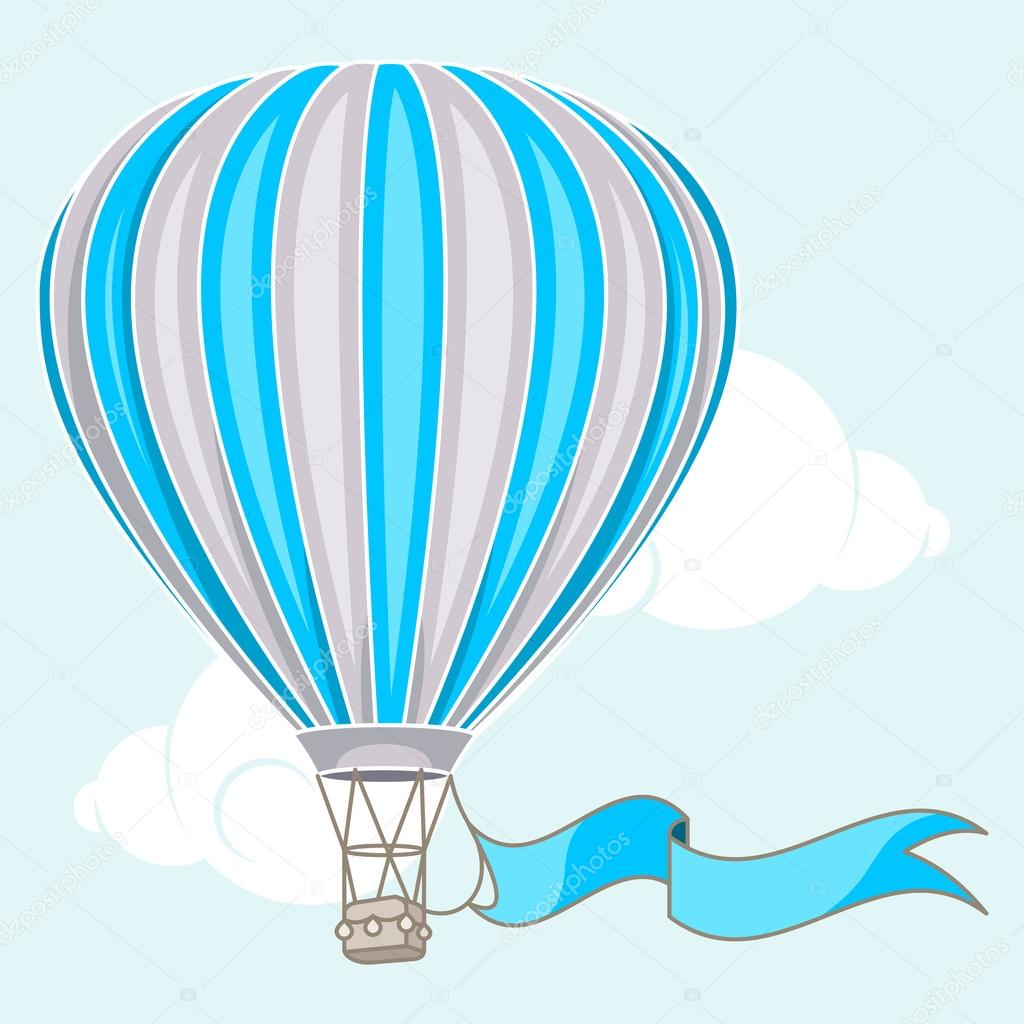 Hot Air Balloon clipart banner #9