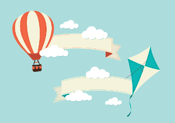 Hot Air Balloon clipart banner #3
