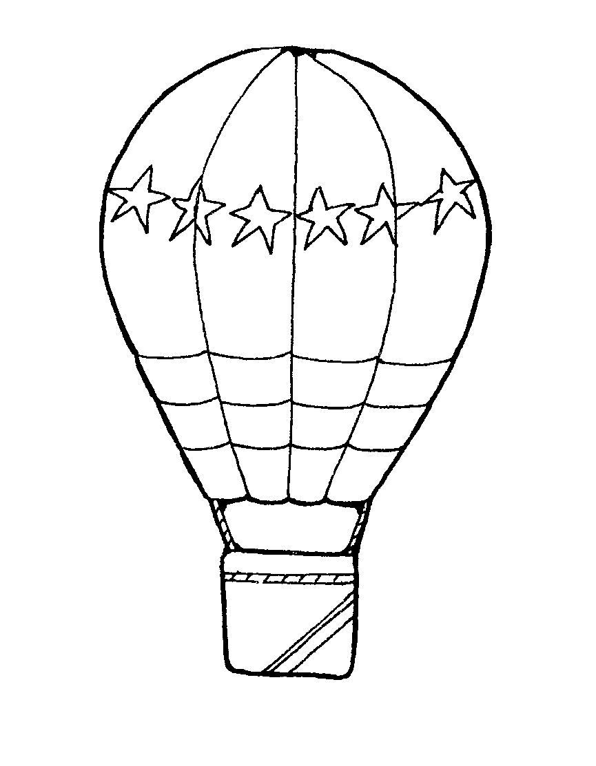 Whit clipart hot air balloon  White Clip Balloon For