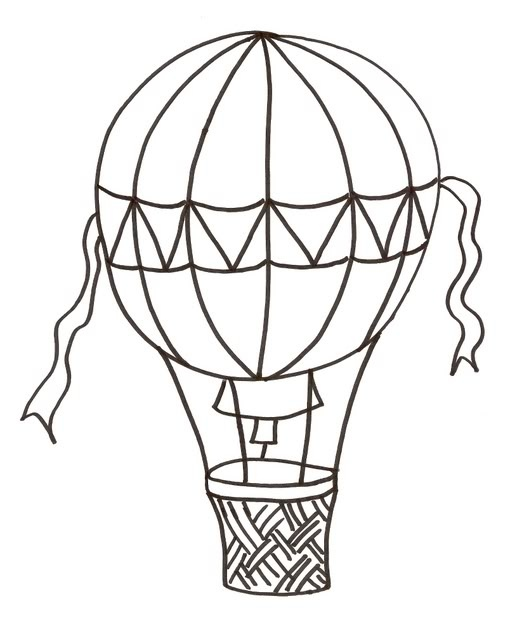 Whit clipart hot air balloon White hot Air air Black