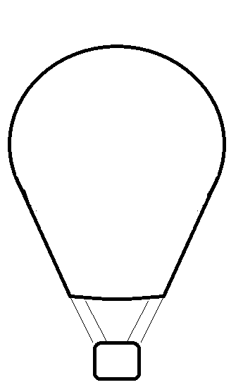 Whit clipart hot air balloon Black Hot Clipart White Air