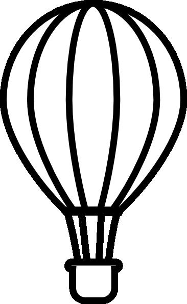 Black & White clipart hot air balloon Air Balloon Clipart Images Free