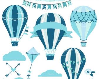 Light Blue clipart hot air balloon Hot blue hot ON hot