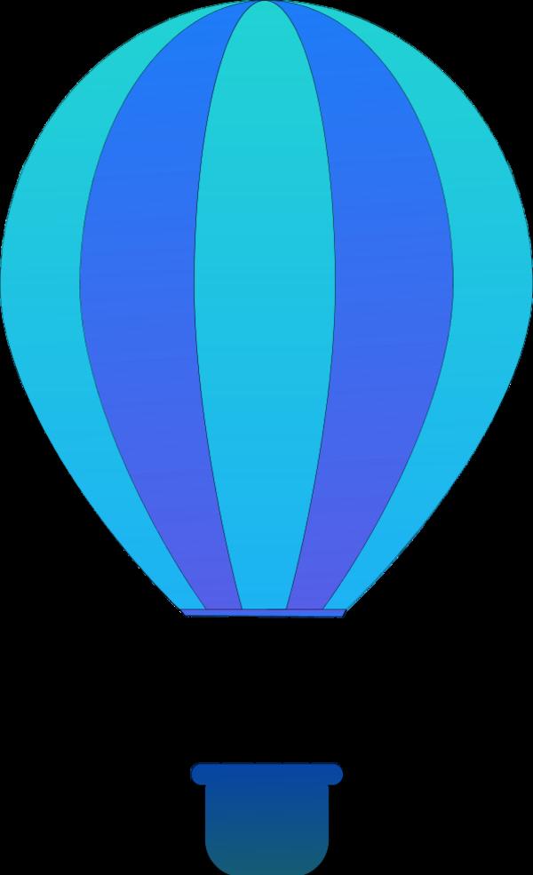 Blur clipart hot air balloon Art Vertical Free Balloons Vector