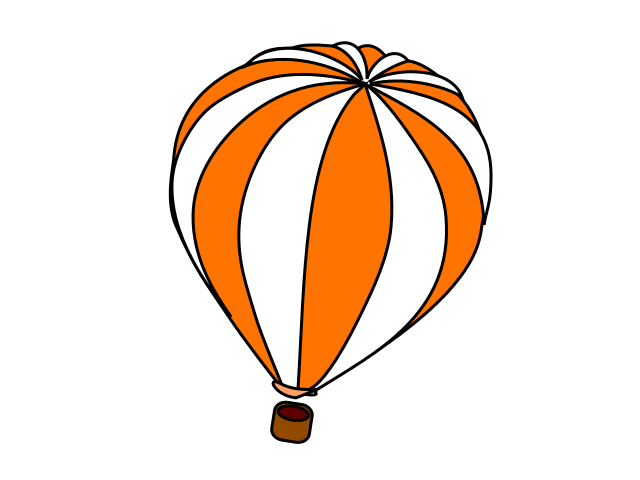 Orange clipart hot air balloon And Black Clipart Clipart Free