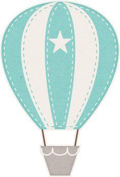 Light Blue clipart hot air balloon Balloon DigitalDollface  Hot Hot