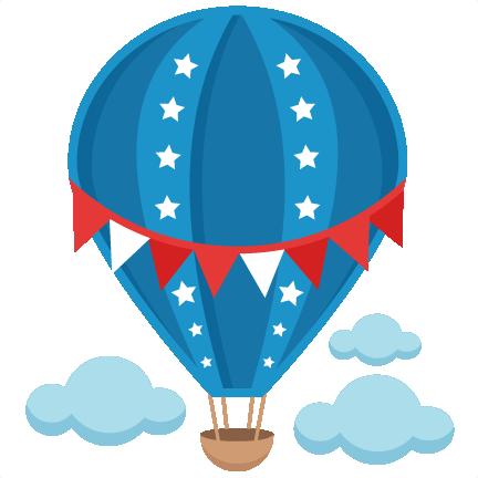 Blur clipart hot air balloon Cute file pazzles Patriotic free