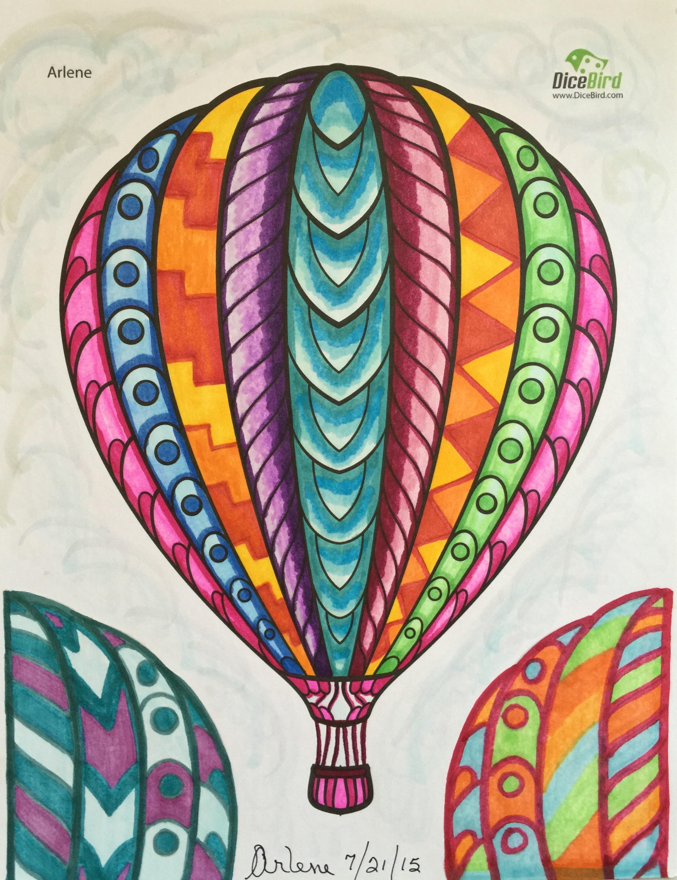 M.c.escher clipart balloon #12