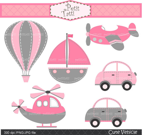 Pink clipart helicopter Clipart clipart clip clip Digital