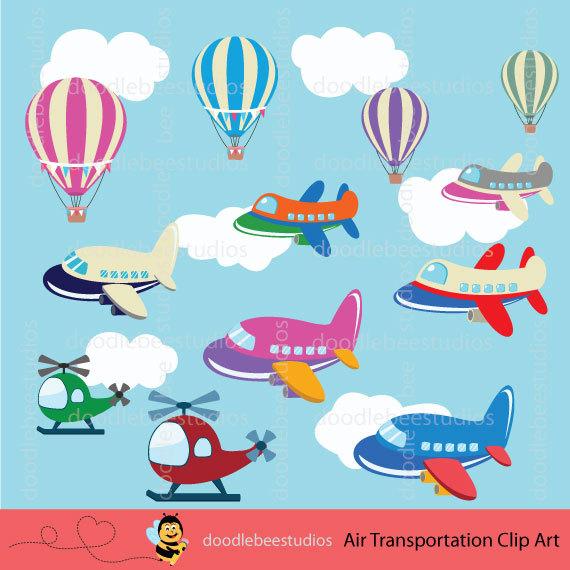Rocket clipart air transportation Transportation plane Clip Etsy Clip