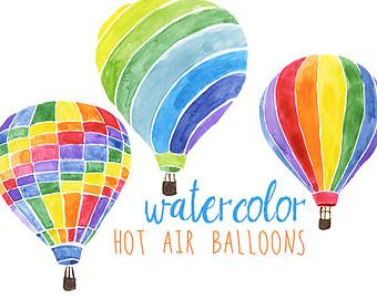 Poinsettia clipart balloon Air Hot party Etsy Clip
