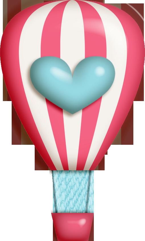 Heart clipart hot air balloon HOT files AIR BALLOON scrapbook