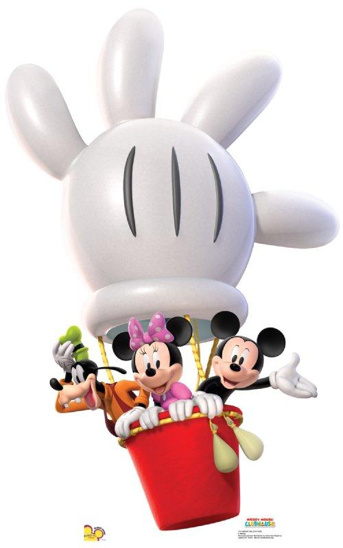 Mickey Mouse clipart hot air balloon #1