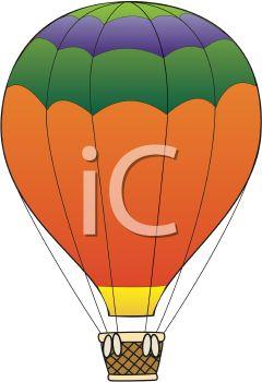 Orange clipart hot air balloon Art Clip Panda Balloon Clipart