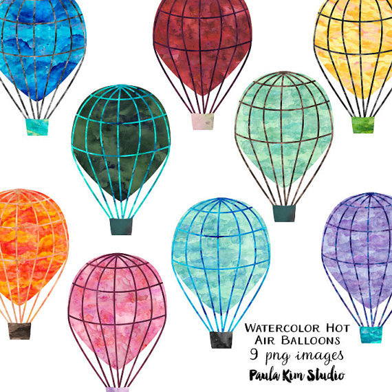 Balloon clipart printable  Balloon Watercolor Art Air