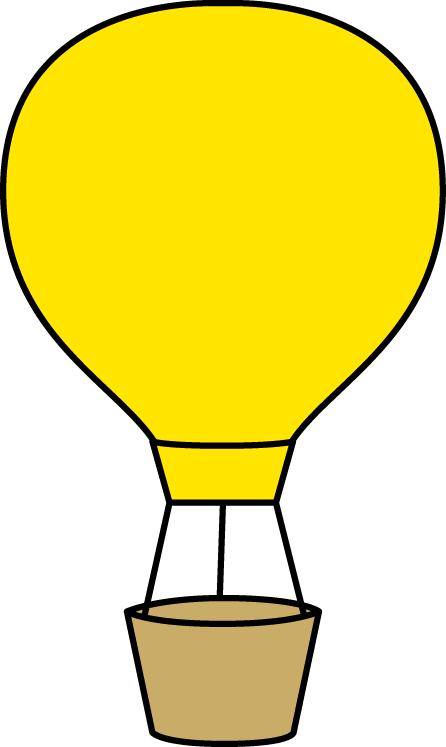 Yellow clipart hot air balloon Yellow Air Hot Hot Art