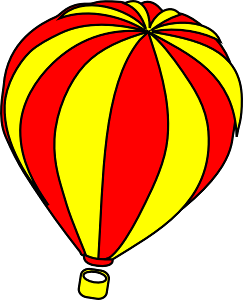 Yellow clipart hot air balloon Hot #15484 Image Air balloon