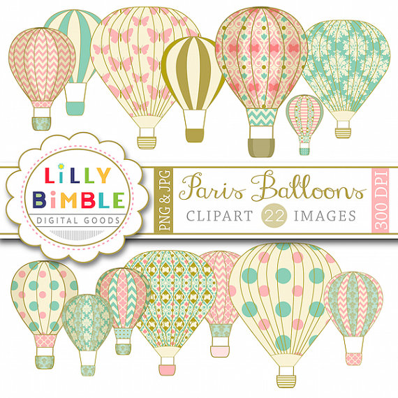 Hot Air Balloon clipart scrapbook BALLOON with Hot scrapbooking Air