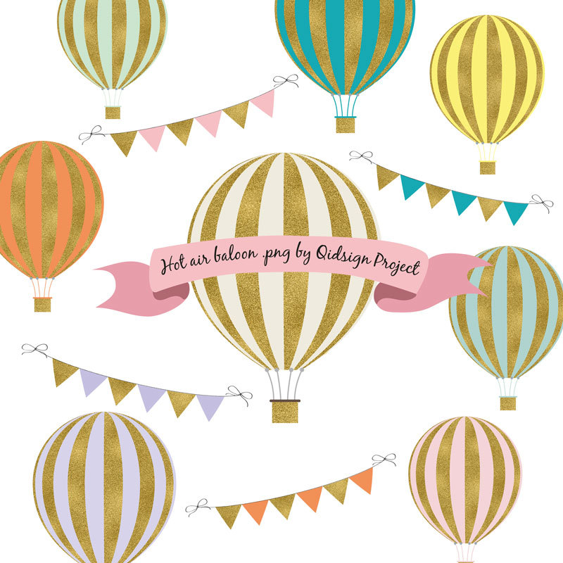 Hot Air Balloon clipart scrapbook Hot Personal Clipart use Scrapbooking