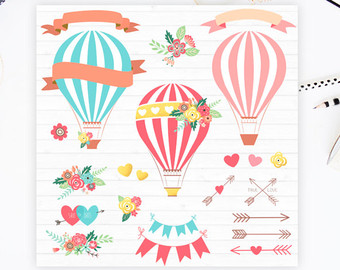 Hot Air Balloon clipart scrapbook Balloons Clipart