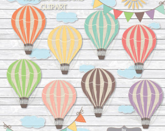 Hot Air Balloon clipart scrapbook Balloon parties clipart balloons scrapbooking