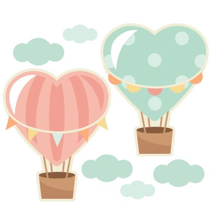 Hot Air Balloon clipart scrapbook Air clipart cut silhouette file