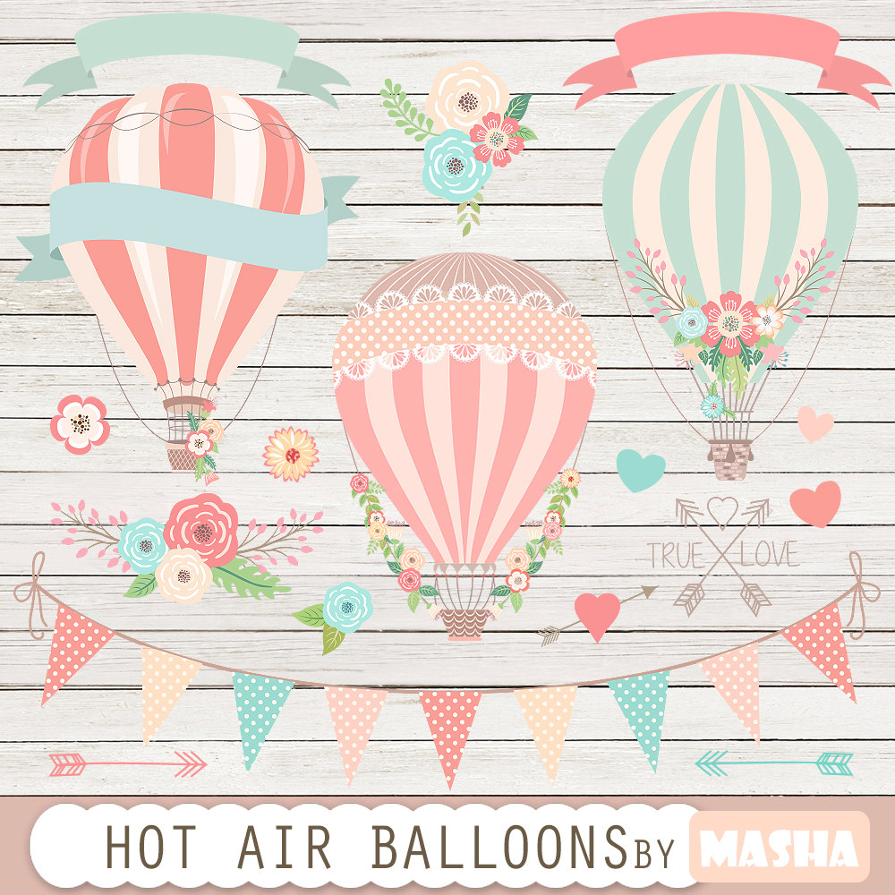 Hot Air Balloon clipart scrapbook A clip Hot Air air