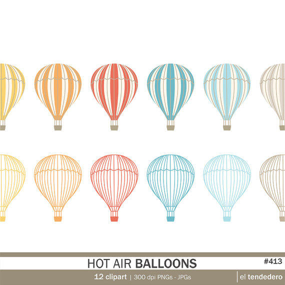 Hot Air Balloon clipart scrapbook Balloon with