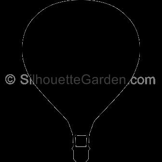 Hot Balloon Air Air Silhouette