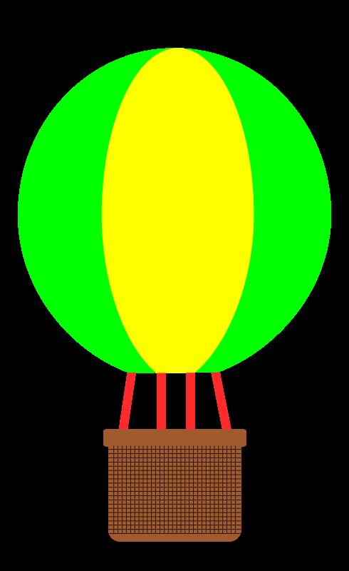 Yellow clipart hot air balloon Free Clip Art Balloon Simple