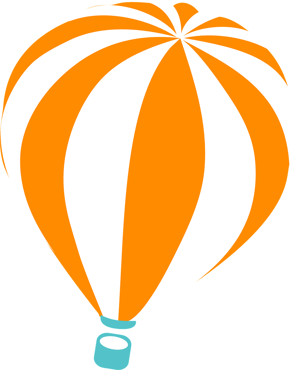 Orange clipart hot air balloon Domain Art Clip Free Public