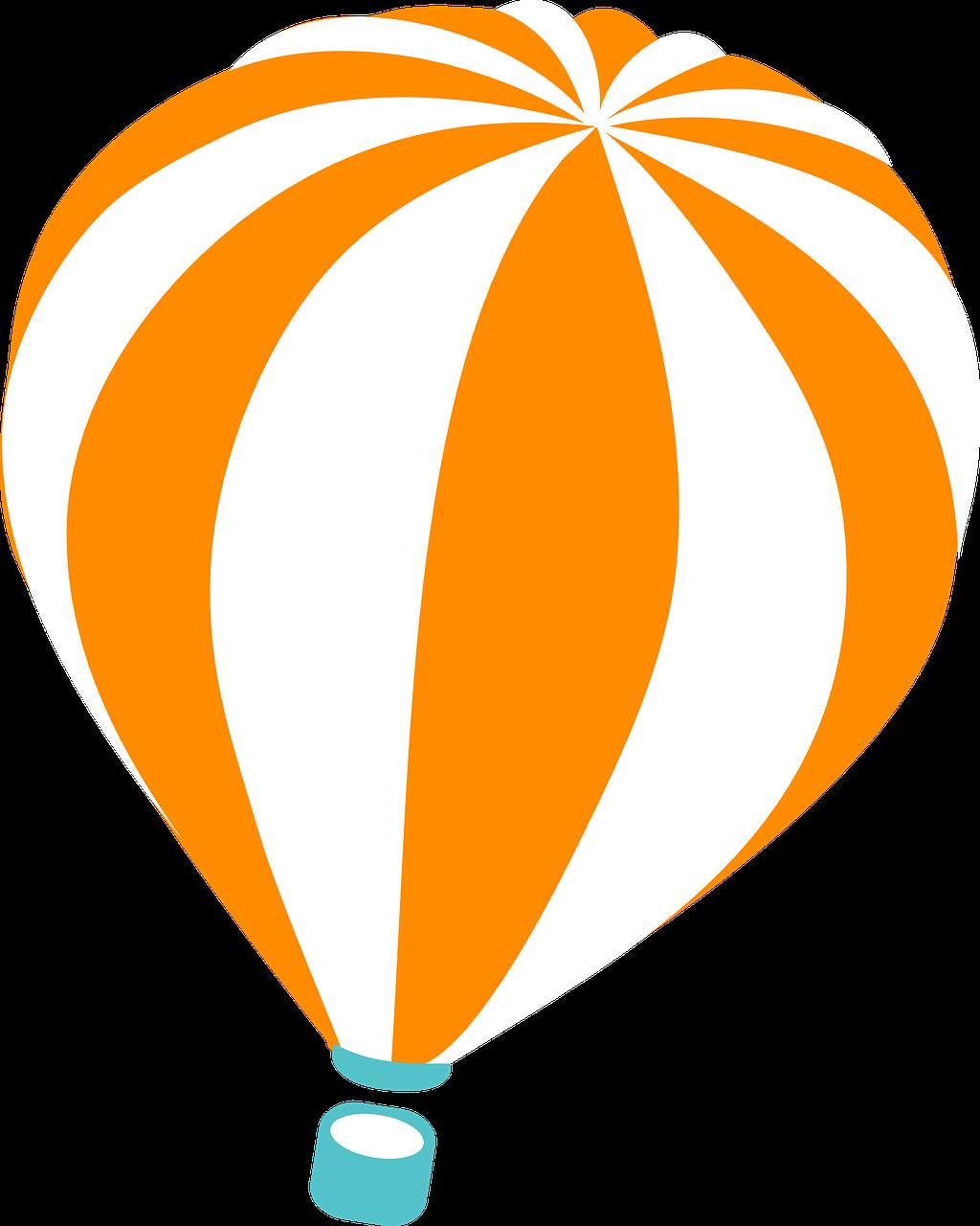 Orange clipart hot air balloon Domain Hot Art Clip Balloon
