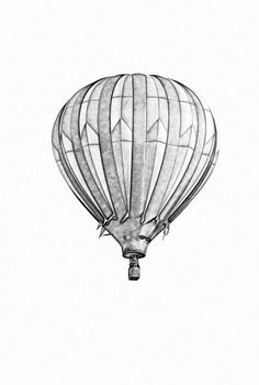 Hot Air Balloon clipart sketch #15