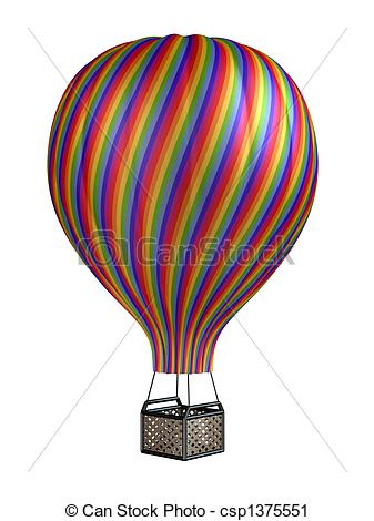 Hot Air Balloon clipart sketch #14