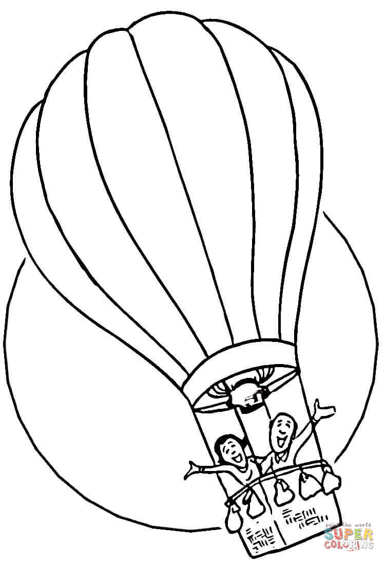 Hot Air Balloon clipart sketch #12